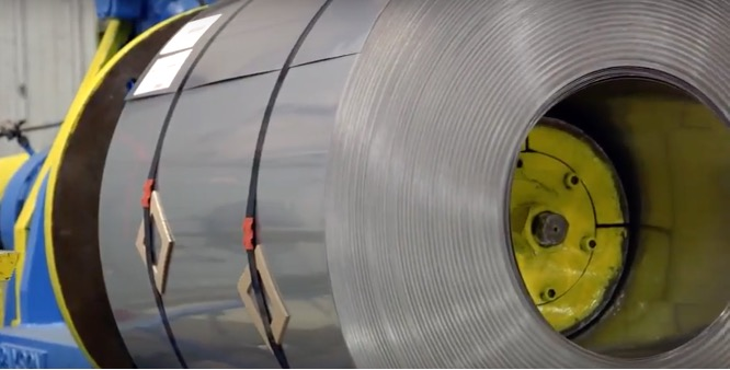 409 stainless steel coil at a warehouse in San Antonio, Texas